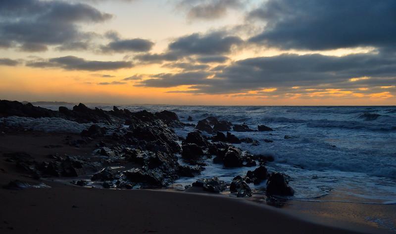 New Years Day sunrise at Bashams Beach