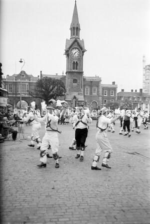 Morris Men in Market Square, 1965