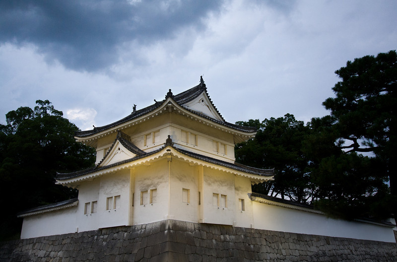 A building on the corner of Nijo castle, Kyoto