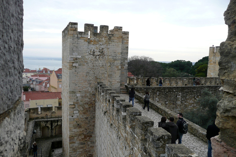 Towers and Ramparts. Castelo de São Jorge, Alfama, Lisbon