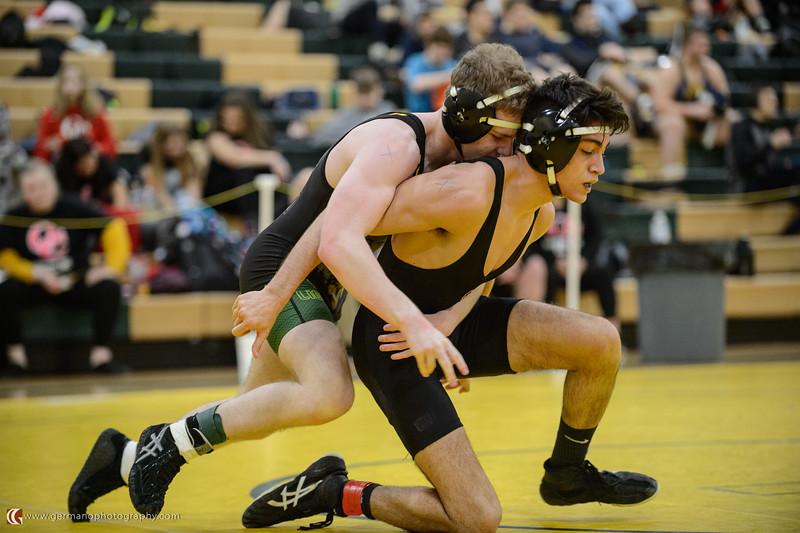 113 West Linn vs Oregon City Bout 136 Kearney v Schull