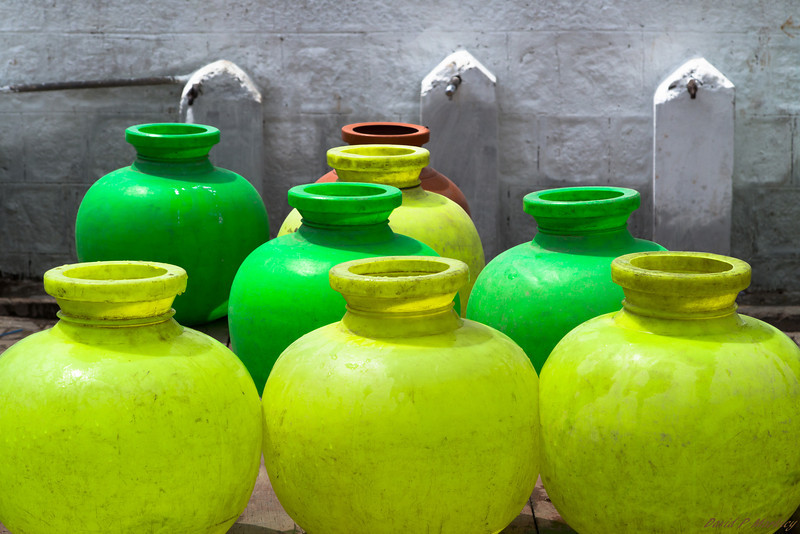 Colored Water Jars