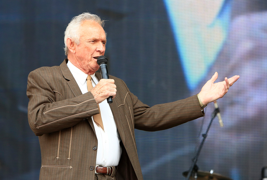 . FILE - In this July 6, 2013, file photo, Mel Tillis performs at the Oklahoma Twister Relief Concert at the Gaylord Family-Oklahoma Memorial Stadium in Norman, Okla. Tillis, the longtime country star who wrote hits for Kenny Rogers, Ricky Skaggs and many others, and overcame a stutter to sing on dozens of his own singles, has died. A spokesman for Tillis, Don Murry Grubbs, said Tillis died early Sunday, Nov. 19, 2017, at Munroe Regional Medical Center in Ocala, Fla. He was 85. (Photo by Alonzo Adams/Invision/AP, File)
