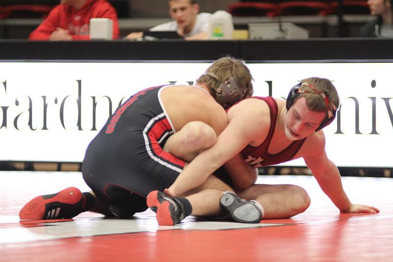 GWU's Justin Guthrie wrestling.