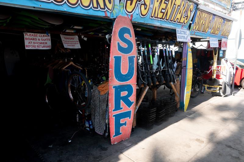 A local surf shop in Venice Beach