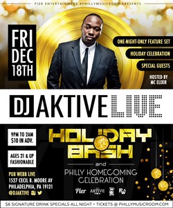 DJ Aktive Holiday Bash 2016