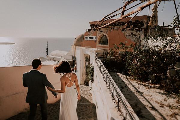 D + A | Elopement Hochzeit auf Santorini