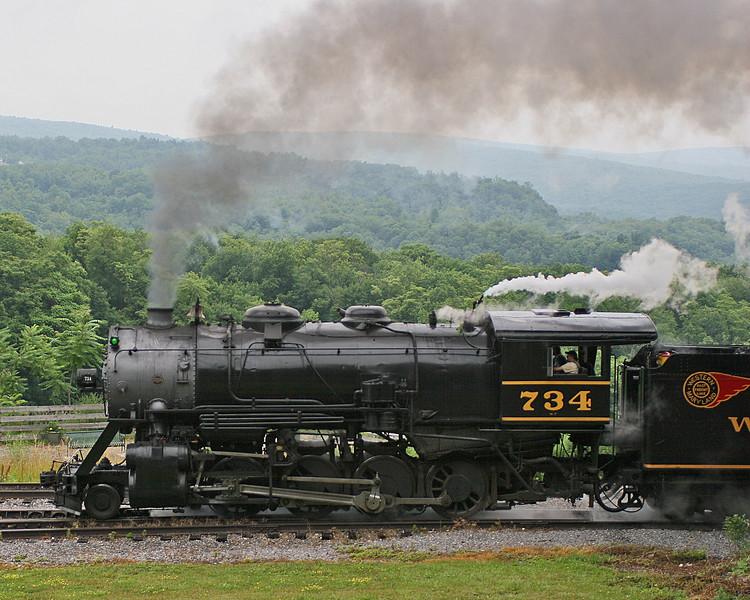 Approaching Frostburg Western Maryland Scenic Railroad