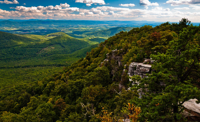 View from Hiking Trail to Big Schloss, George Washington National Forest, Virginia
