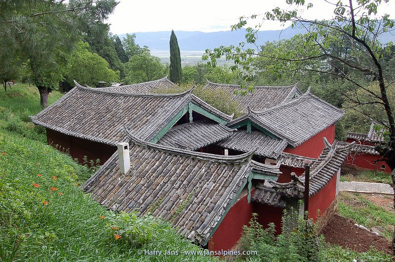 typical Chinese roofs at Yufeng Monastery