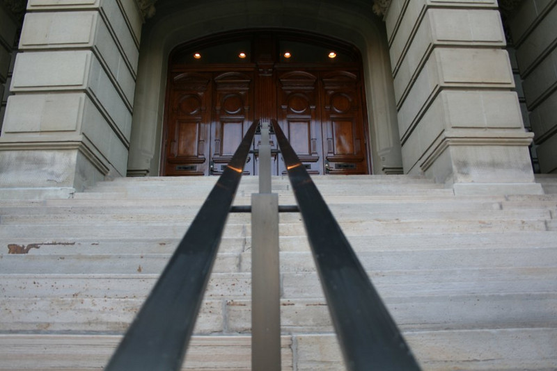 Railing and doors to the front of the capitol building -- Cheyenne, WY