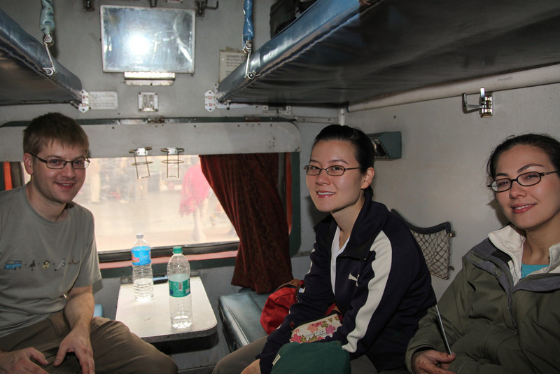 On the train from Jaipur to Agra.