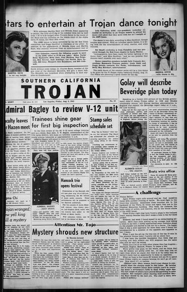 Southern California Trojan, Vol. 35, No. 15, August 06, 1943