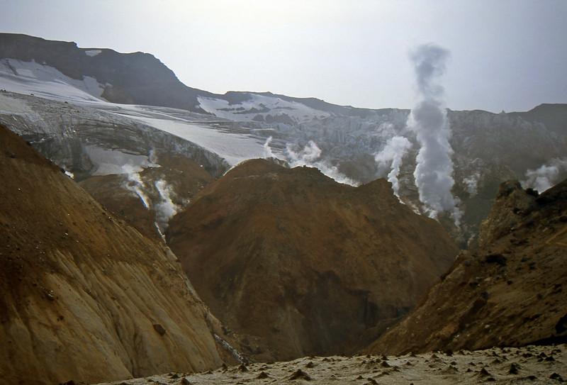 Fumarole in the Mutnovsky Volcano - Kamčatka, Russian Federation - Summer 1993