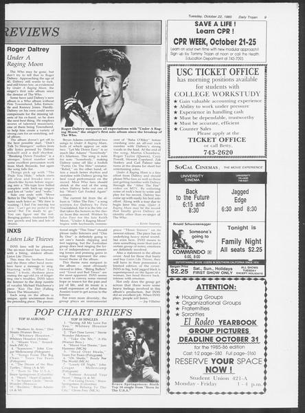 Daily Trojan, Vol. 100, No. 36, October 22, 1985