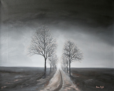 """""""Provincial Road"""" (oil on canvas) by Dinara Aristo"""