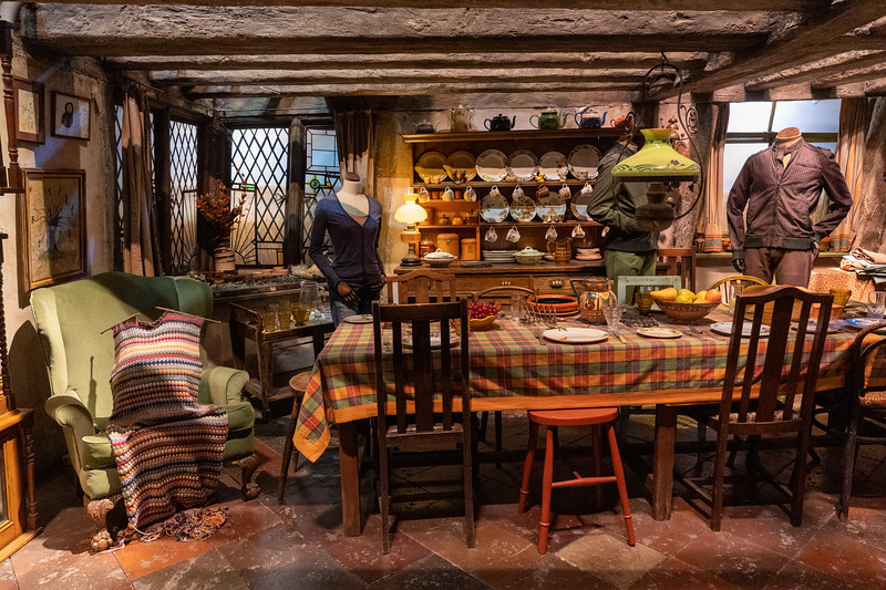 The Burrow set at Warner Bros. Studio Tour London