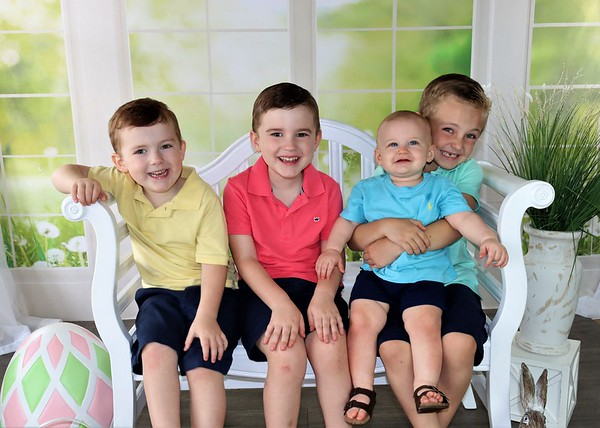 Brayson, Rowen, Eli and Briar | Easter 2021