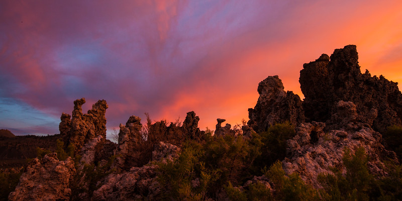 Tufas at sunset. Mono Lake, Ca.