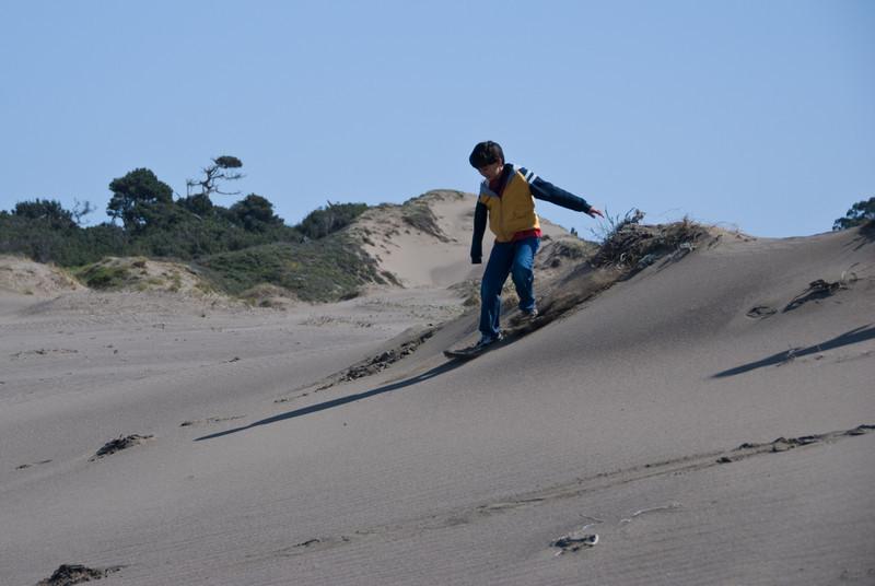 Nikhil skis the dunes