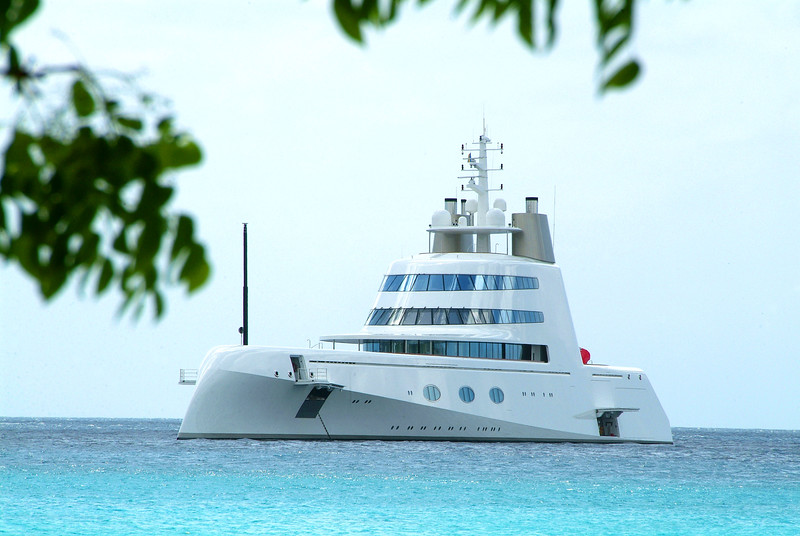 Super Yacht 'A' in Barbados photographed by Barbados Photography