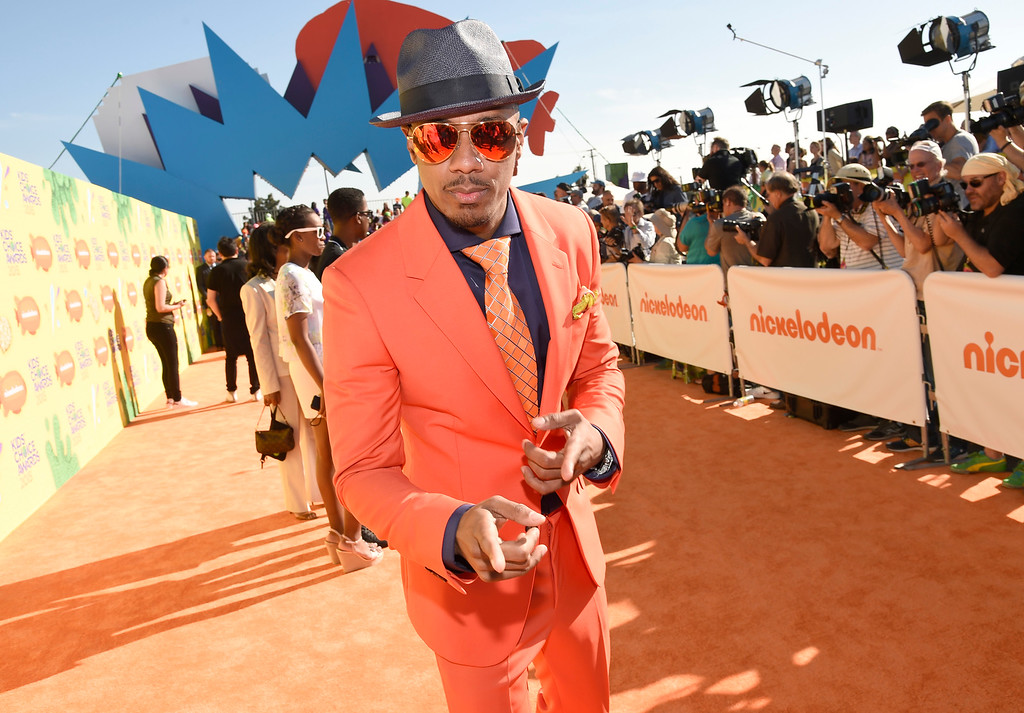 . Nick Cannon arrives at Nickelodeon\'s 28th annual Kids\' Choice Awards at The Forum on Saturday, March 28, 2015, in Inglewood, Calif. (Photo by Chris Pizzello/Invision/AP)