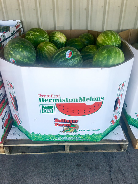 Stop in Hermiston Oregon for lunch and watermelon