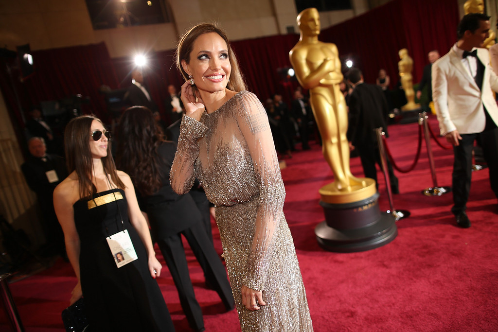 . Angelina Jolie attends the Oscars at Hollywood & Highland Center on March 2, 2014 in Hollywood, California.  (Photo by Christopher Polk/Getty Images)
