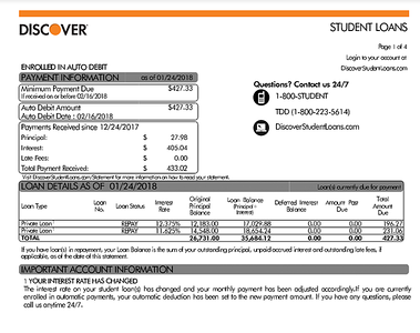 Student Loan Bill Workshop