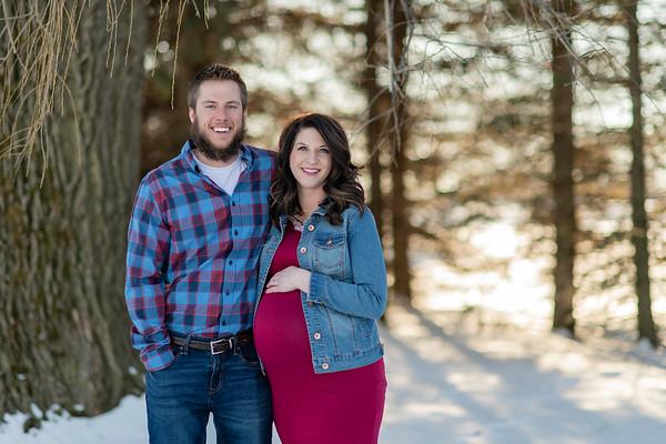 Wisconsin Winter Sunset Maternity Photography | Baby K