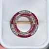 2.90ctw French Ruby and Diamond Brooch, by La Cloche Fres of Paris 0