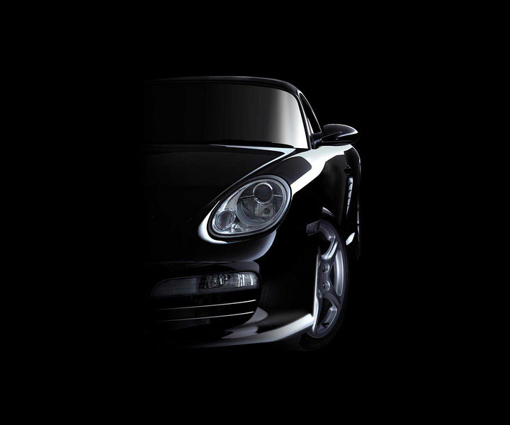 A very classic shot for a Porsche advert. A lot of post production work was needed to give this overall effect which captures the personality and styling of the car