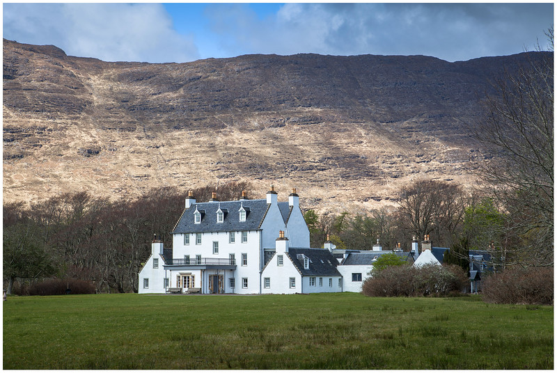 Applecross House and Beinn a'Chlachain