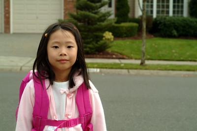 2005-11-16 Erica at Bus Stop