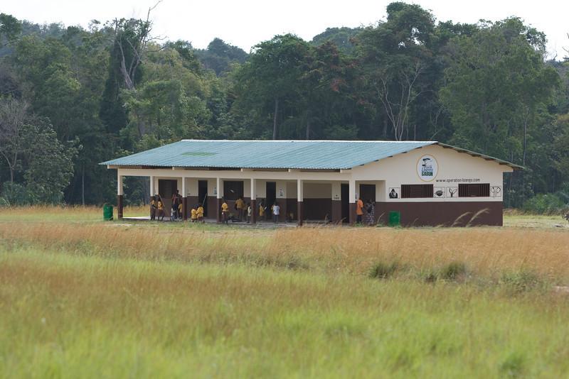 School, built by Operation Loango.