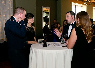 Attendees of the Air Force Element Heritage Ball enjoy the evening, 22 September 2018 in Leavenworth, KS.  Command and General Staff College