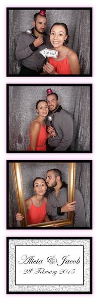 Wedding of Alicia & Jacob Photostrips