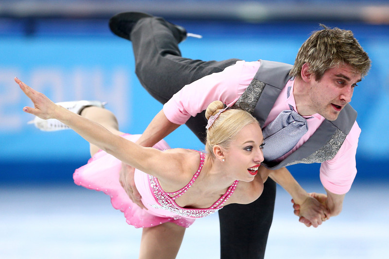 . Stacey Kemp and David King of Great Britain compete in the Figure Skating Pairs Short Program during the Sochi 2014 Winter Olympics at Iceberg Skating Palace on February 6, 2014 in Sochi, Russia.  (Photo by Clive Mason/Getty Images)