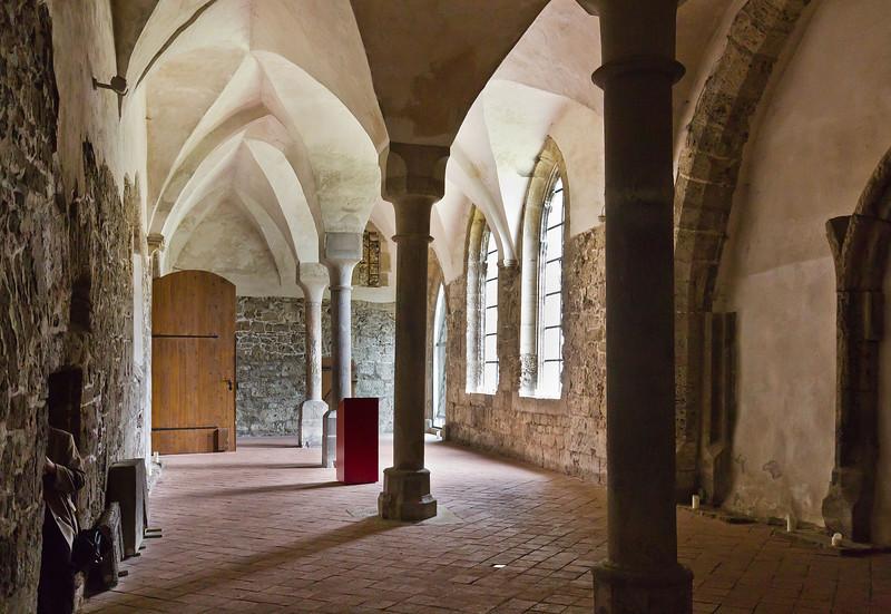 Walkenried, Klosterkreuzgang. Brüdersaal im Ostflügel