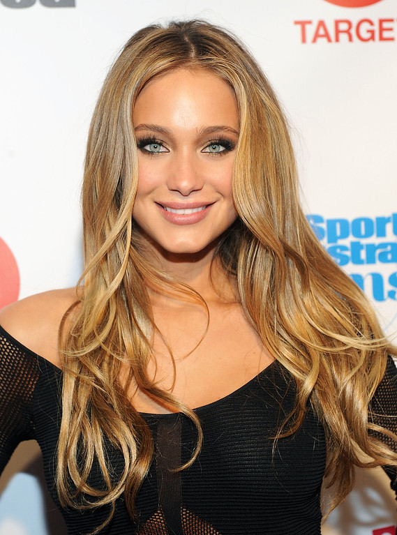 . Model Hannah Davis attends the 2013 Sports Illustrated Swimsuit issue launch party at Crimson on Tuesday, Feb. 12, 2013 in New York. (Photo by Brad Barket/Invision/AP)