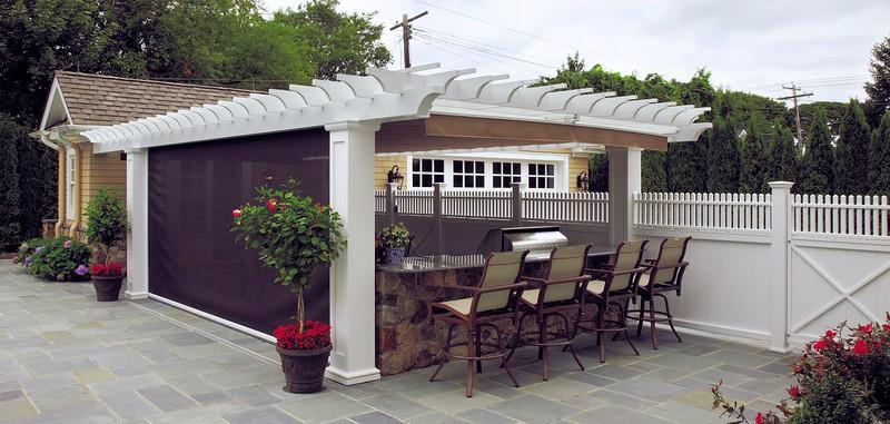 873 - Sea Girt NJ - Pergola with Canopy & Side Shade