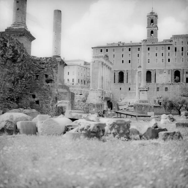 Architecture in the Roman Forum 4:Italy beyond 70mm. Photographs taken on 80mm (Medium format film)