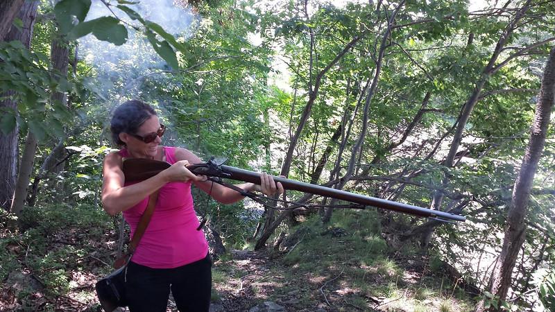 Nicole - Shooting a gun