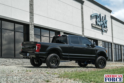 Rudy's-Diesel-Performance-Aaron.R-MatteBlack-2017-F250-Platinum-22x11-Black-Machined-Trax-Custom-Engraved-Lip-@realrudy