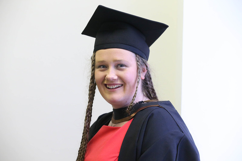 Pictured is Michelle Phelan, Waterford who  graduated in Bachelor of Arts (Hons) Visual Arts. Picture: Patrick Browne