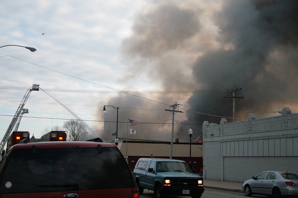 Waukegan Fire Department Box Alarm Fire 133 S.  Genesee Salvation Army Vacant 100 x 75 Warehouse Fully Involved