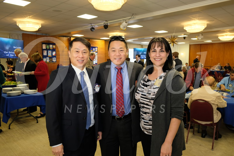 Mayor Steven Huang, Jonathan Duong and City Manager Marcella Marlowe