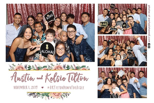 Kelsie & Austin's Wedding (Mini LED Open Air Photo Booth)
