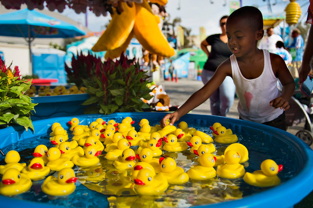 . Opening day of L.A. County Fair in Pomona on Friday, Aug. 30, 2013. (Staff photo by Watchara Phomicinda/ San Gabriel Valley Tribune)