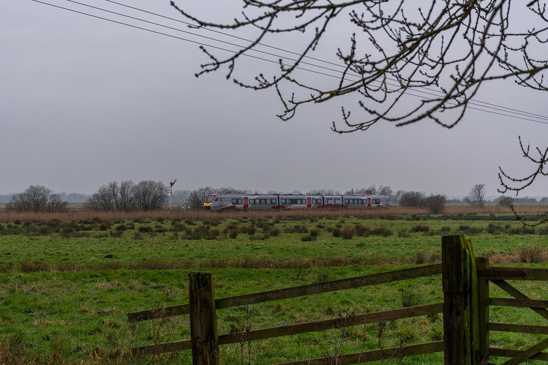 Class 755 approaches Cantley